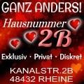 Hausnummer 2b in Rheine Privatbordell mit wöchentlicher Wechsel der Frauen